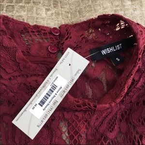 Urban Outfitters Dresses - Burgundy Lace Mockneck Dress NWT